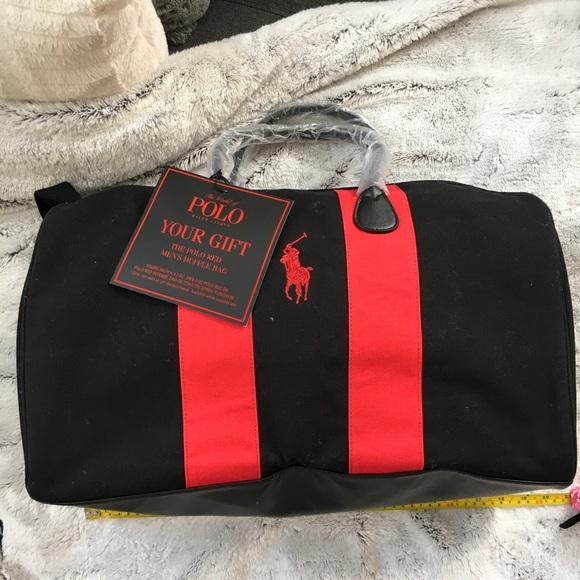 Polo Ralph Lauren Duffel Bag Black-Red Colorblock 21bfdcfec1d25